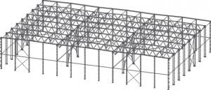 Многопролетное здание (на основе ферменных конструкций)