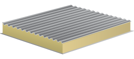 """Ограждающие конструкции могут быть выполнены из стеновых панелей """"сэндвич"""" различной толщины и профилирования."""