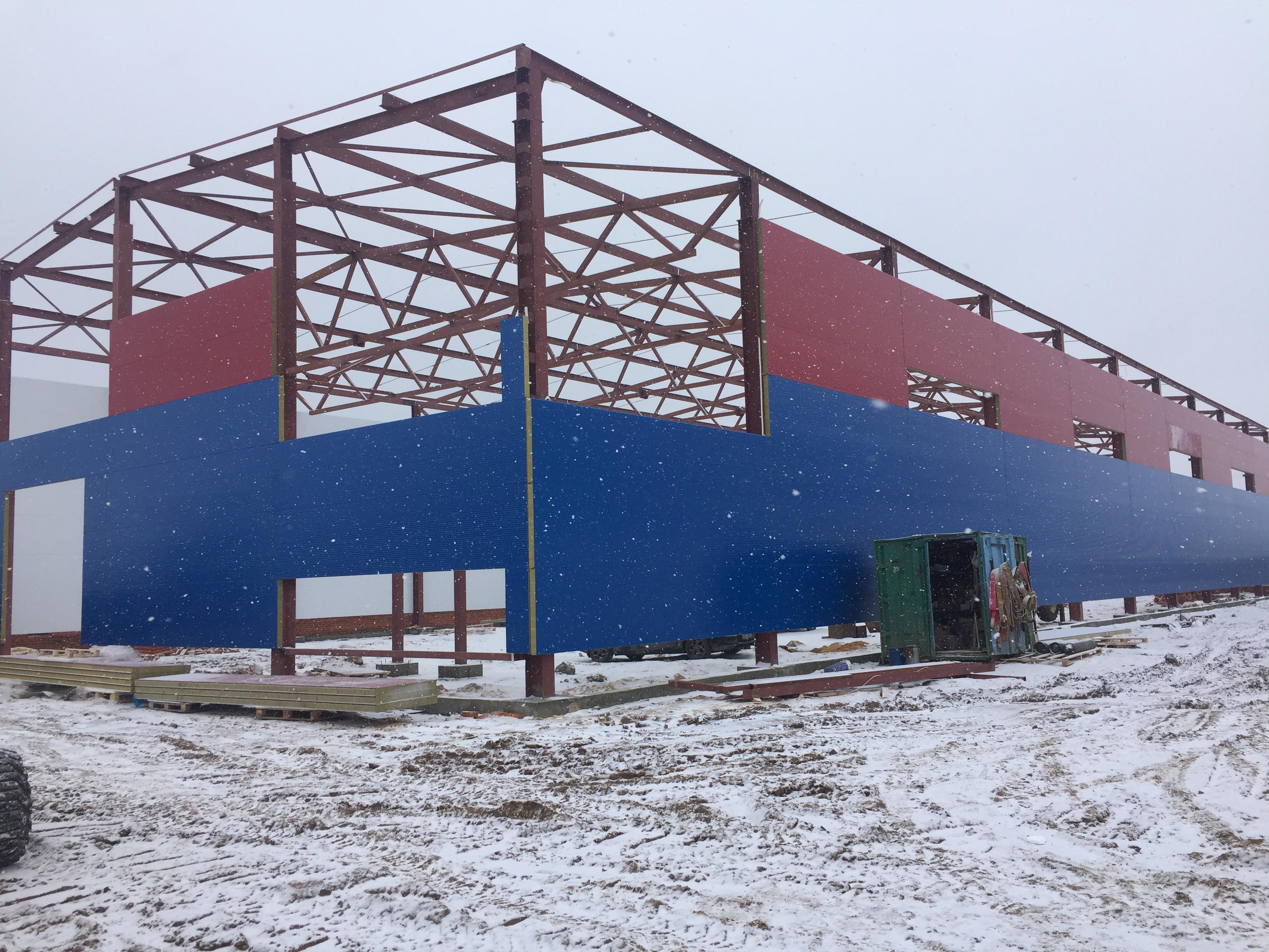 Складской комплекс с АБК для хранения тормозных колодок